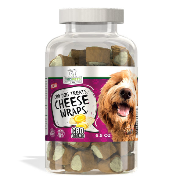 CBD Dog Treats - Cheese Wraps by MediPets