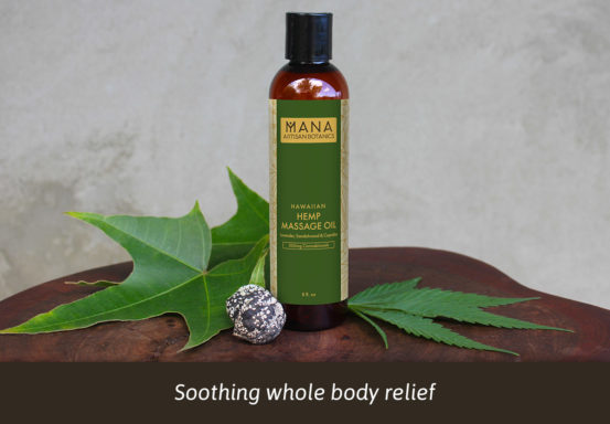CBD Hemp Massage Oil by Mana Botanics