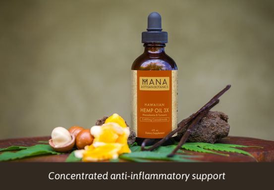 PCBD Hemp Oil 3X Macadamia, Turmeric & Vanilla by Mana Botanics