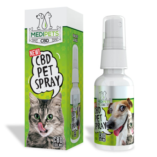 CBD Pet Spray 100MG by MediPets CBD