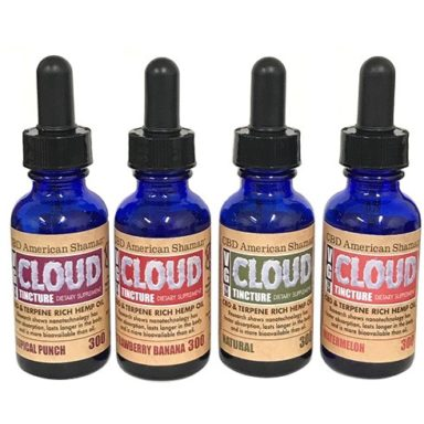 VG Cloud Tincture – Terpene Rich Hemp Oil by CBD American Shaman