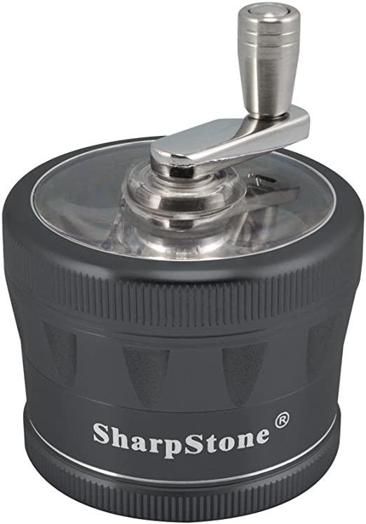 Large Sharpstone 2 crank top grinder for weed