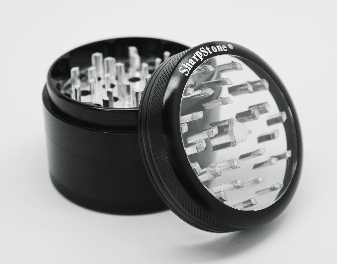Sharpstone clear top 2-piece herb grinder